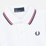 Детское поло Fred Perry My First White/Red/Navy фото- 2