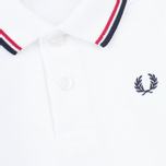 Детское поло Fred Perry My First White/Red/Navy фото- 3