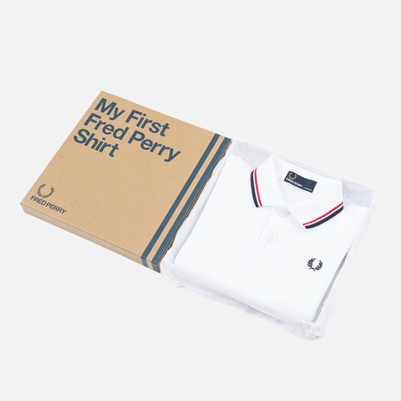 Детское поло Fred Perry My First White/Red/Navy