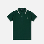 Fred Perry Twin Tipped Children's Polo Ivy/Snow White photo- 0