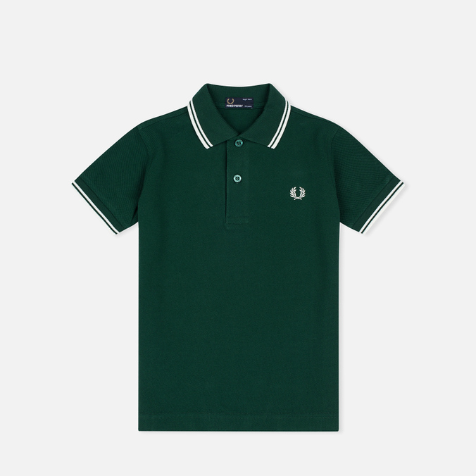 Детское поло Fred Perry Twin Tipped Ivy/Snow White