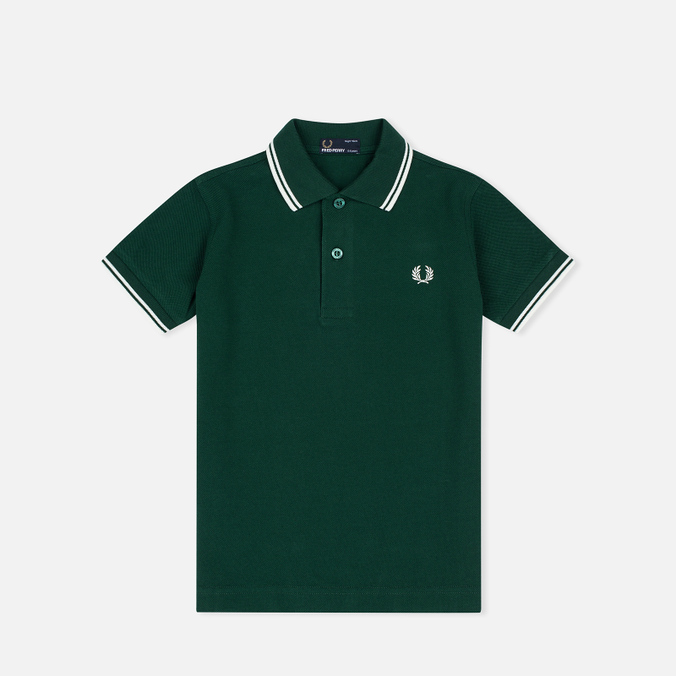 Fred Perry Twin Tipped Children's Polo Ivy/Snow White