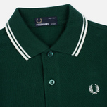Fred Perry Twin Tipped Children's Polo Ivy/Snow White photo- 1