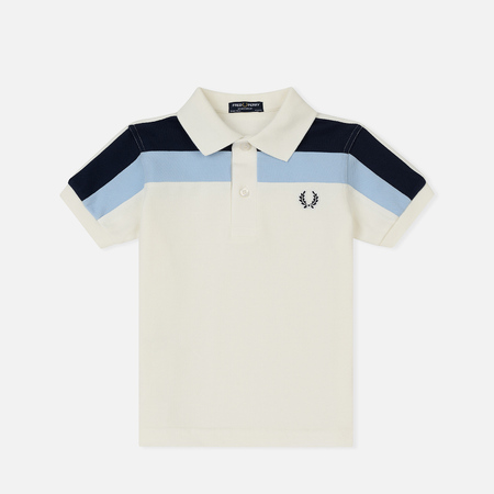 Детское поло Fred Perry Twin Tipped Pearl