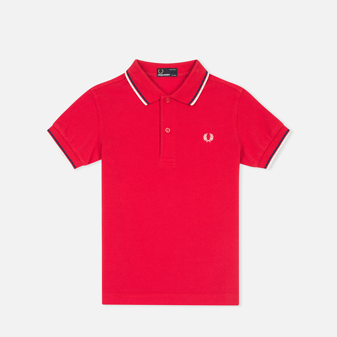 Детское поло Fred Perry Twin Tipped Red