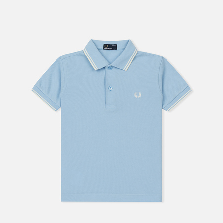 Детское поло Fred Perry Twin Tipped Sky Blue/Ecru/Ecru