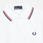 Детское поло Fred Perry Twin Tipped White/Bright Red/Navy фото- 1