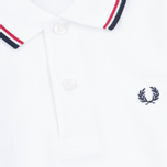 Детское поло Fred Perry Twin Tipped White/Bright Red/Navy фото- 2