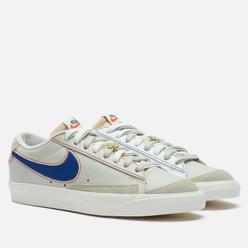 Мужские кроссовки Nike Blazer Low 77 PRM Removable Swoosh Light Bone/Summit White/University Red