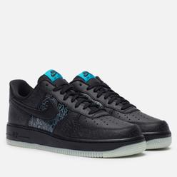 Мужские кроссовки Nike x Space Jam Air Force 1 07 Black/Black/Light Blue Fury