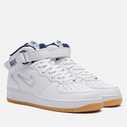 Кроссовки Nike Air Force 1 Mid QS NYC White/White/Midnight Navy/Gum Yellow