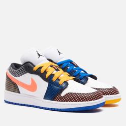 Подростковые кроссовки Jordan Air Jordan 1 Low MMD BG White/Bright Mango/Black/Game Royal