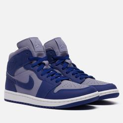 Мужские кроссовки Jordan Wmns Air Jordan 1 Mid SE Iron Purple/Deep Royal Blue/White