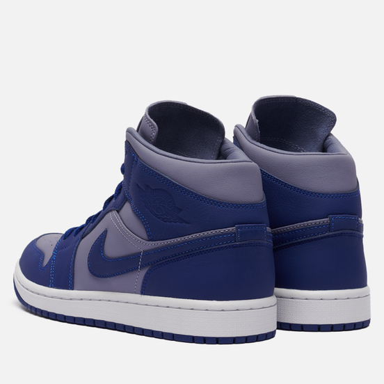 Женские кроссовки Jordan Wmns Air Jordan 1 Mid SE Iron Purple/Deep Royal Blue/White
