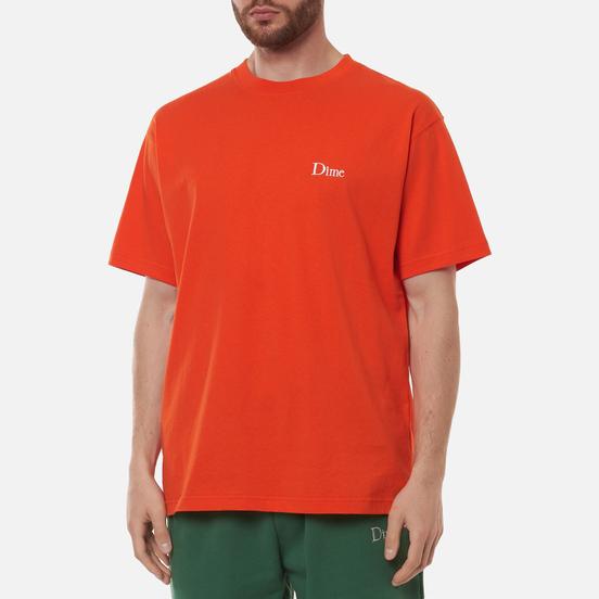 Мужская футболка Dime Classic Small Logo Crew Neck Burnt Orange