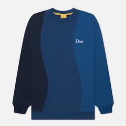 Мужская толстовка Dime Wavy 3-Tone Crew Neck Blue