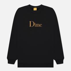 Мужская толстовка Dime Dime Classic Embroidered Crew Neck Black