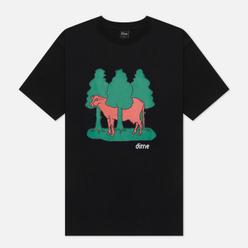Мужская футболка Dime Forest Cow Black