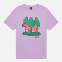 Мужская футболка Dime Forest Cow Lavender