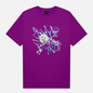 Мужская футболка Dime Curveball Dark Magenta фото - 0