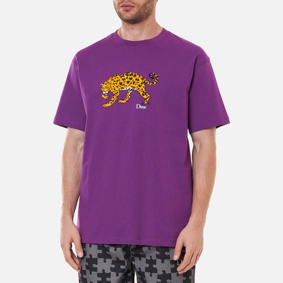 Мужская футболка Dime Puzzle Cat Dark Magenta