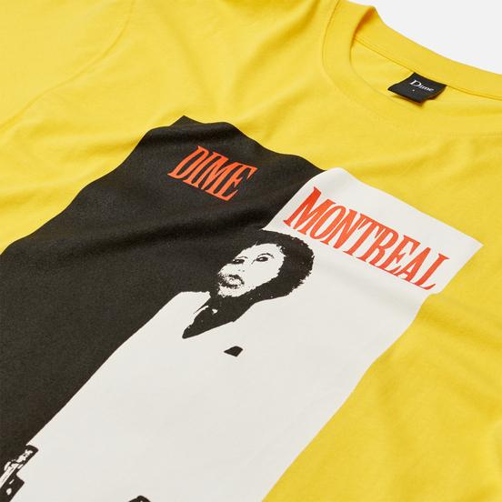 Мужская футболка Dime Restoration Face Yellow