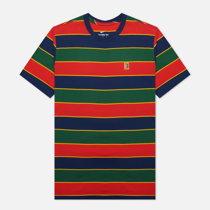 Мужская футболка Nike Court Embroidered Stripes