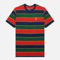 Мужская футболка Nike Court Embroidered Stripes Binary Blue фото - 0