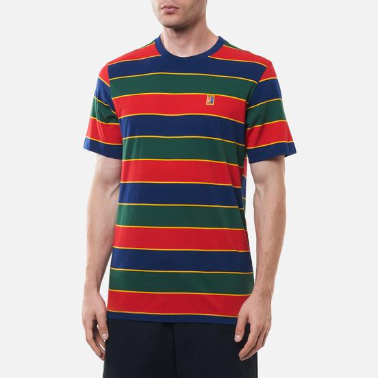 Мужская футболка Nike Court Embroidered Stripes Binary Blue