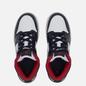 Подростковые кроссовки Jordan Air Jordan 1 Mid GS White/Gym Red/Black фото - 1