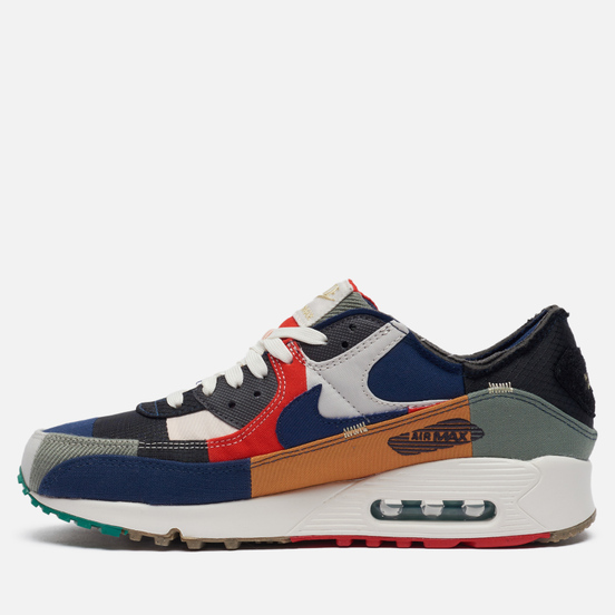Женские кроссовки Nike Wmns Air Max 90 QS Legacy College Navy/Light Bone/Sail/Chile Red