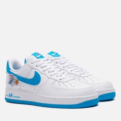 Мужские кроссовки Nike x Space Jam Air Force 1 07 Hare White/Light Blue Fury/White