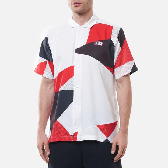 Мужская рубашка Jordan Printed Shooting All Over Print Quai 54 White