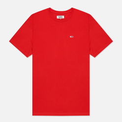 Мужская футболка Tommy Jeans Classics Organic Cotton Crew Neck Deep Crimson
