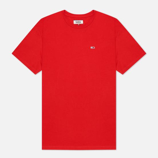 Мужская футболка Tommy Jeans Classics Organic Cotton Crew Neck Deep Crimson