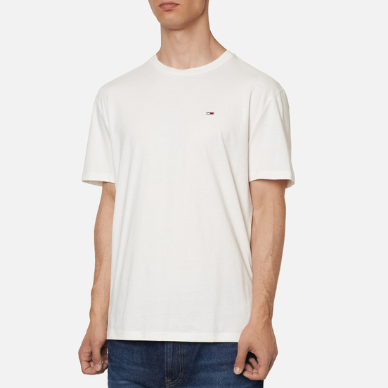 Мужская футболка Tommy Jeans Classics Organic Cotton Crew Neck White