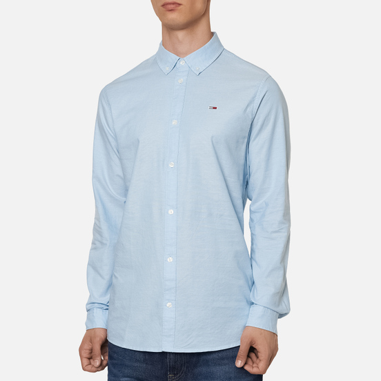 Мужская рубашка Tommy Jeans Stretch Oxford Shoreside Blue