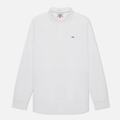 Мужская рубашка Tommy Jeans Stretch Oxford Slim Fit White