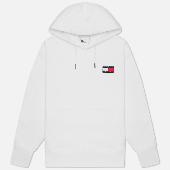 Мужская толстовка Tommy Jeans Tommy Badge Organic Cotton Hoodie White