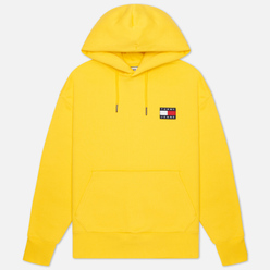 Мужская толстовка Tommy Jeans Tommy Badge Organic Cotton Hoodie Starfruit Yellow