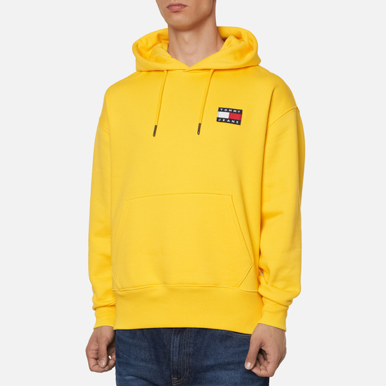 Мужская толстовка Tommy Jeans Tommy Badge Organic Cotton Hoodie Starfruit Yellow