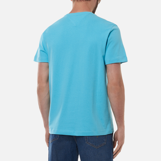 Мужская футболка Tommy Jeans Tommy Badge Regular Fit Chlorine Blue