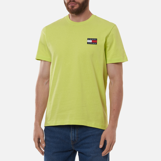 Мужская футболка Tommy Jeans Tommy Badge Regular Fit Faded Lime