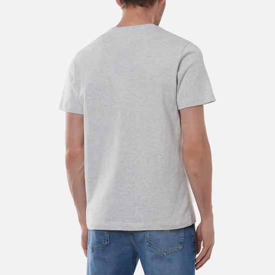 Мужская футболка Tommy Jeans Tommy Badge Regular Fit Silver Grey Heather