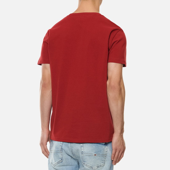 Мужская футболка Tommy Jeans Tommy Badge Regular Fit Wine Red