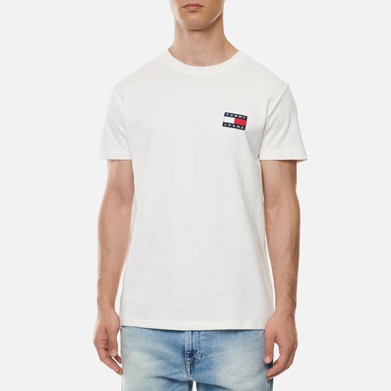 Мужская футболка Tommy Jeans Tommy Badge Regular Fit White