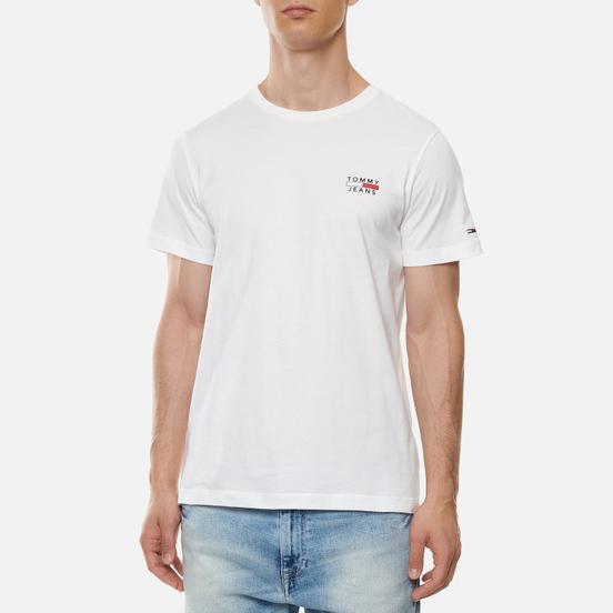 Мужская футболка Tommy Jeans Chest Logo Slim Fit White