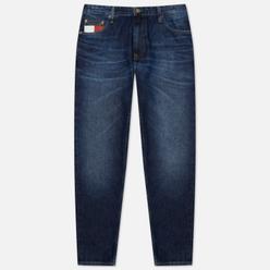 Мужские джинсы Tommy Jeans Dad Straight Fit Recycled Cotton Save Pfm Dark Blue Rigid