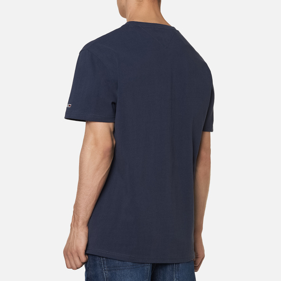 Мужская футболка Tommy Jeans Small Flag Twilight Navy