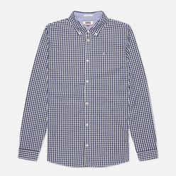 Мужская рубашка Tommy Jeans Poplin Gingham Slim Fit Twilight Navy Check